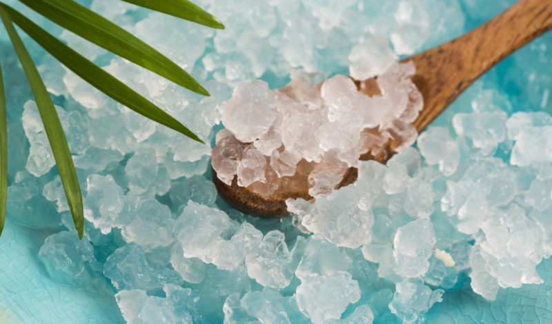 Nahaufnahme Wasserkefirkristalle
