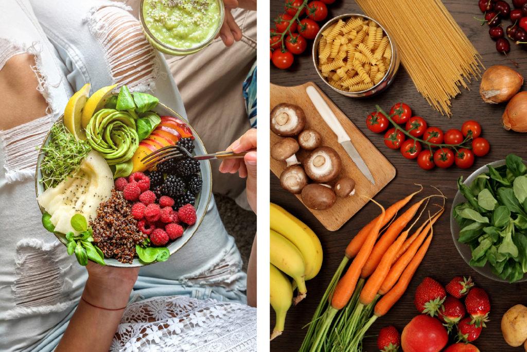 Vegetarische Ernährung Collage Biomes
