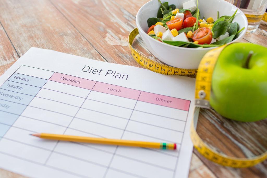 Moodbild Diät-Plan der erfolgreiche Kampf gegen Adipositas