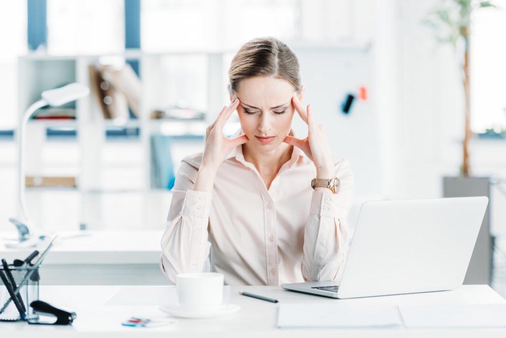 Stress Moodbild. Darmstress Stressbauch